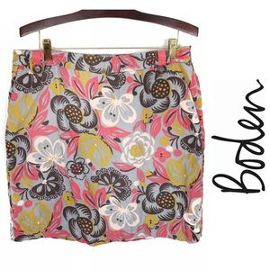 Boden Corduroy Floral Mini Skirt, 12